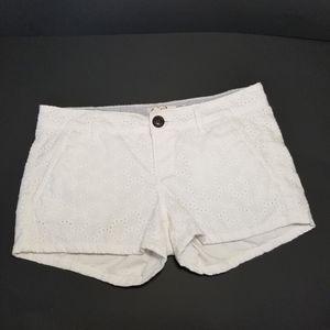 SO size 3 white eyelet shorts